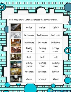 Interactive worksheet The Old House