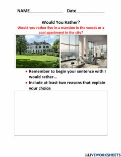 Ficha interactiva Would you rather