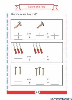 Interactive worksheet Count and Add