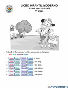 Interactive worksheet This - that -these - those