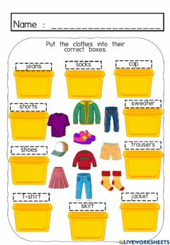 Interactive worksheet Clothes - Get Dressed