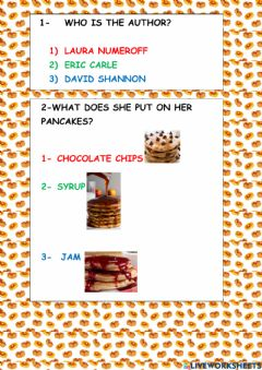 Ficha interactiva If you give a pig a pancake- revision