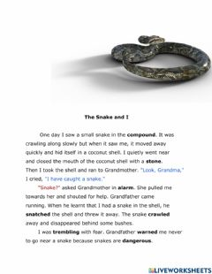 Ficha interactiva The Snake and I