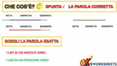 Interactive worksheet Che cos'è