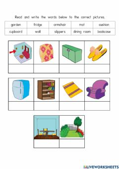 Interactive worksheet Module 5 My New House - Vocabulary