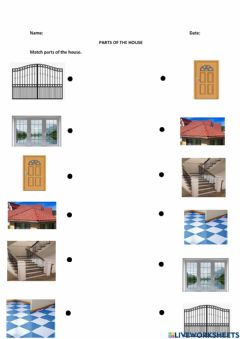 Interactive worksheet Parts of the house