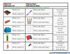 Interactive worksheet What is it? What are they?