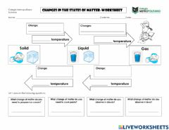Ficha interactiva Changes in the States of Matter Summary
