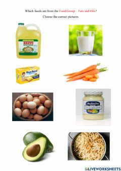Interactive worksheet Food Group - Fats and Oils