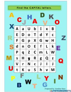 Interactive worksheet Capital Letters