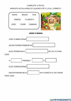 Interactive worksheet Complete o texto