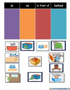 Interactive worksheet Year 3 module 5 (prepositions of place)