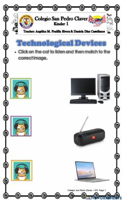 Ficha interactiva Technological Devices K1