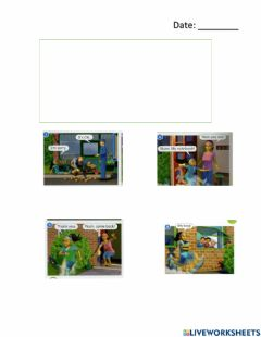 Interactive worksheet Watch out flash story year 1