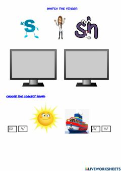 Interactive worksheet The -s- and -S- sounds