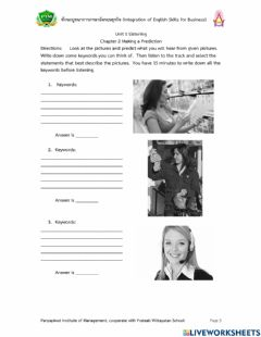 Interactive worksheet Unit 1 Chapter 2