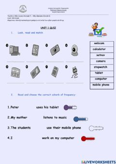 Interactive worksheet How often do you use a...?
