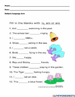 Interactive worksheet Revision L-A