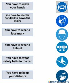 Interactive worksheet Mandatory signs-- Have to