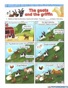 Ficha interactiva The goats and the griffin