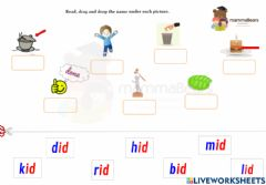 Interactive worksheet 'i' sound drag and drop activity 2