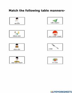 Ficha interactiva Table Manners