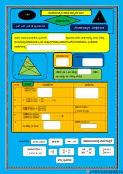 Interactive worksheet Thales Theore