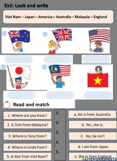 Interactive worksheet Country