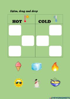 Ficha interactiva Hot and cold