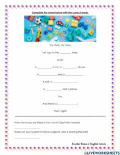 Interactive worksheet Let's play (chant)