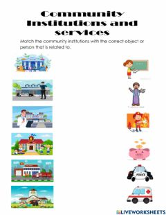 Interactive worksheet Community institutions and services