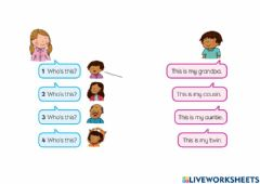 Interactive worksheet Who-s this?