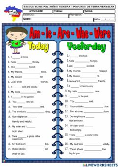 Interactive worksheet Verbo to be