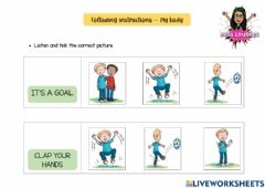 Interactive worksheet Following instructions - my body