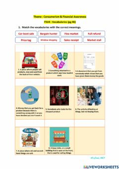 Interactive worksheet GN09 Speaking Skill - Shopping Therapy