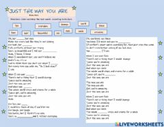 Ficha interactiva Just the way you are (Bruno Mars)