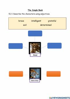 Interactive worksheet Year 4 The Jungle Book
