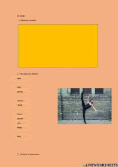 Interactive worksheet Le corps