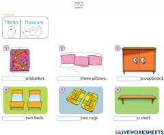 Interactive worksheet There's - There are