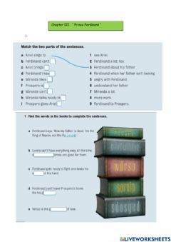 Interactive worksheet The tempest -