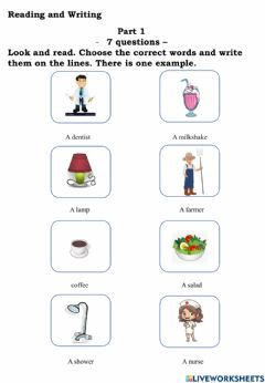 Interactive worksheet Movers reading T6