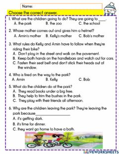 Interactive worksheet The lost boy 1