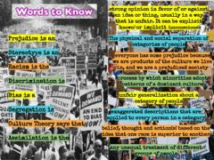 Interactive worksheet Civil Rights Words to Know
