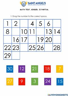 Ficha interactiva Number from 1 to 30