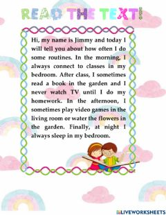 Interactive worksheet Read the text