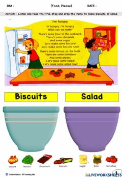 Interactive worksheet Food, Please : page 55 (Drag and Drop)