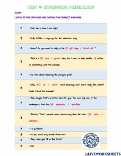 Ficha interactiva Form 1 Expressing Preferences page 49