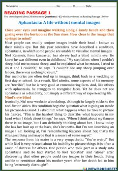 Interactive worksheet Academic Reading 1 - Section 1