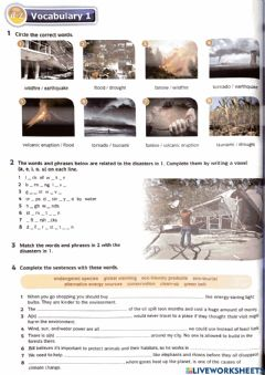 Interactive worksheet DOWNLOAD: Unit 5 (Vocabulary 1 page 60)