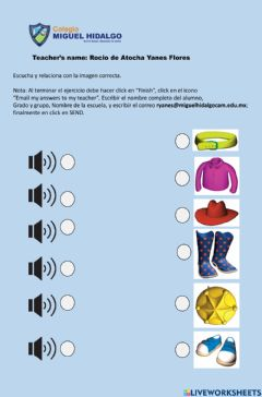 Interactive worksheet Party Clothes